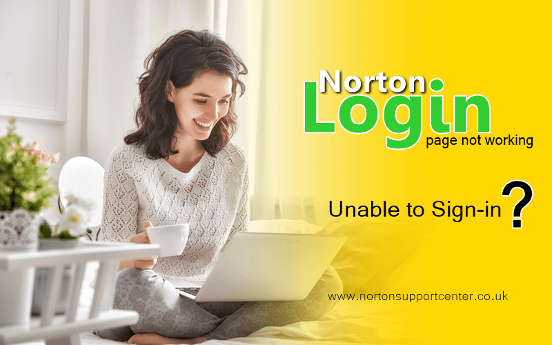 Norton login page is not working