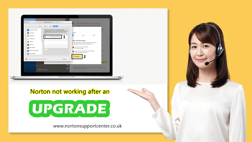 Norton not working after upgrade